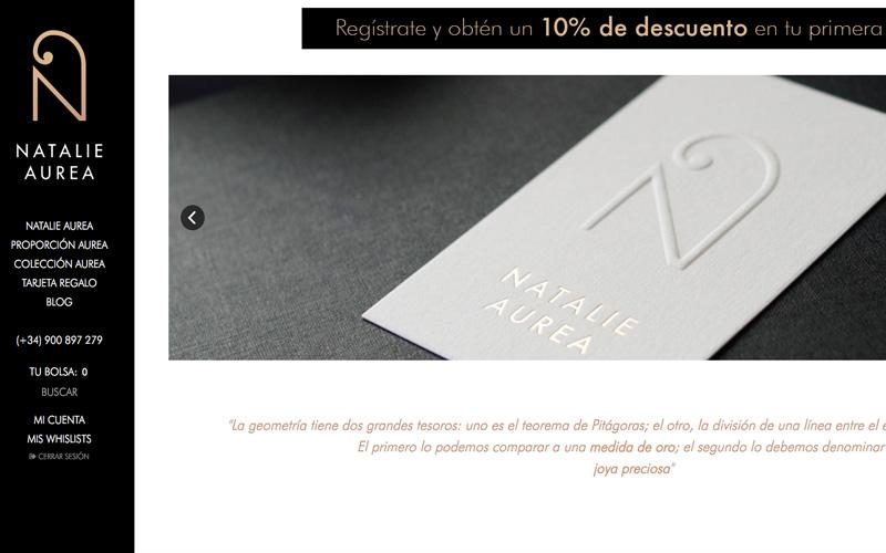 tienda online de la firma de joyería conceptual natalie aurea